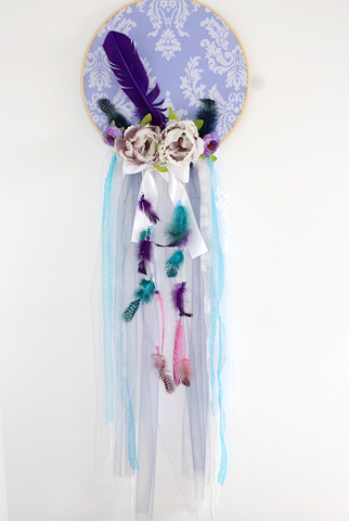 Dreamcatcher Wall hanging - Lilac and Teal
