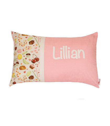 Personalised Cushion Pink Cherries