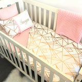 Gold Geometric Cot Set