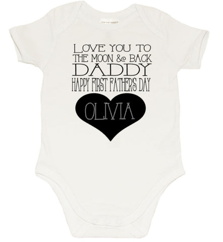 Fathers day Romper - To the Moon & Back