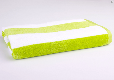 Personalised Beach Towel - Lime