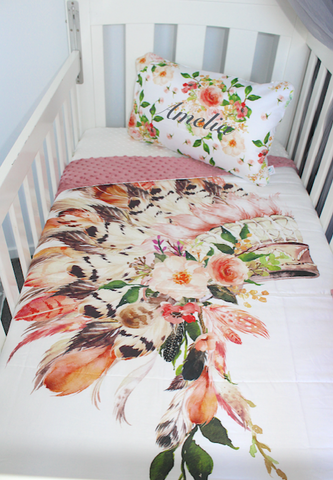 Boho Blush Headdress Comforter