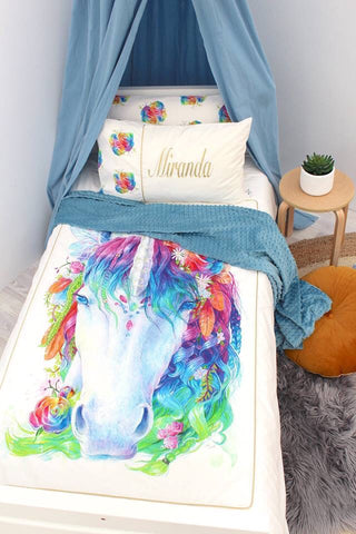 Magical Mystic Rainbow Unicorn Doona Cover - Hoot Designz