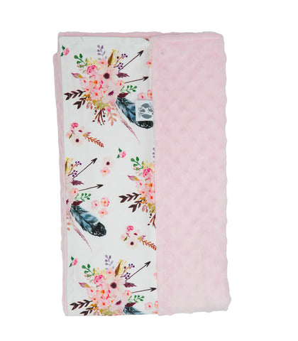 Boho Floral Arrow - Pram Blanket