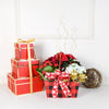 Holiday Flower Box, floral gift baskets, plant gift baskets