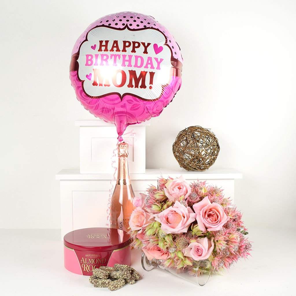 Prosecco Flowers Happy Birthday Mom Flowers Champagne Gift New York Blooms