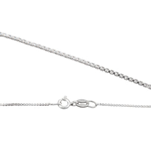 "Sterling Silver 18"" Box Chain - 1mm"