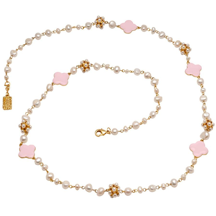 Pretty in Pink and Pearls Necklace