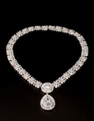 Gorgeous Cluster CZ Necklace