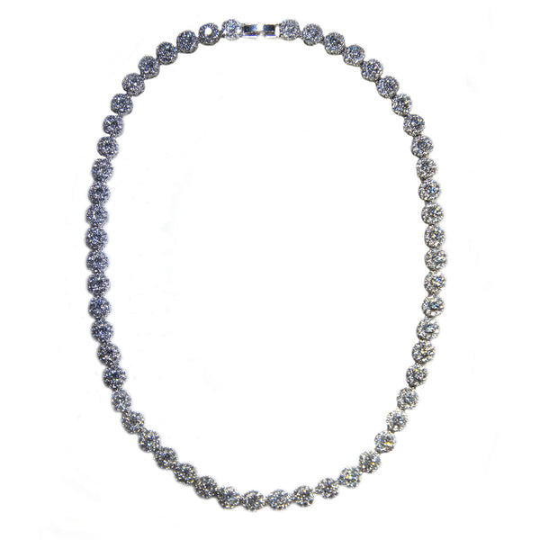 Small Circle Pave Necklace