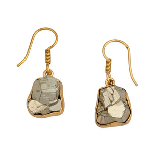 Alchemia Pyrite Drop Earrings