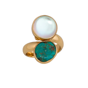 Alchemia Luminite & Campo Frio Adjustable Ring