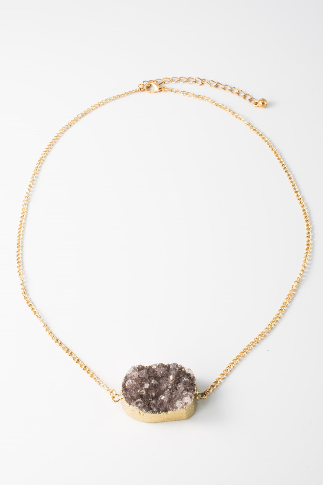 Druzy Pendant Necklace