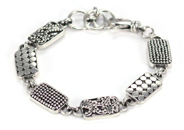 925 Sterling Silver Bali Bracelet Assorted Design