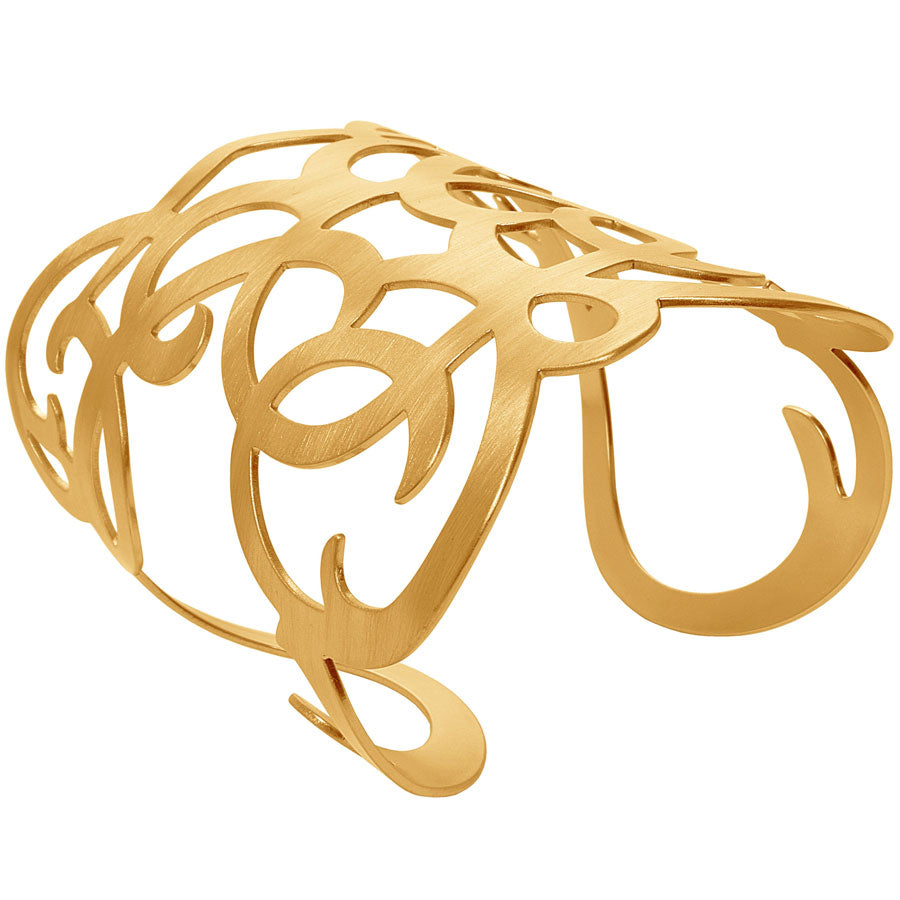 Angela Arabesque Cuff in Gold
