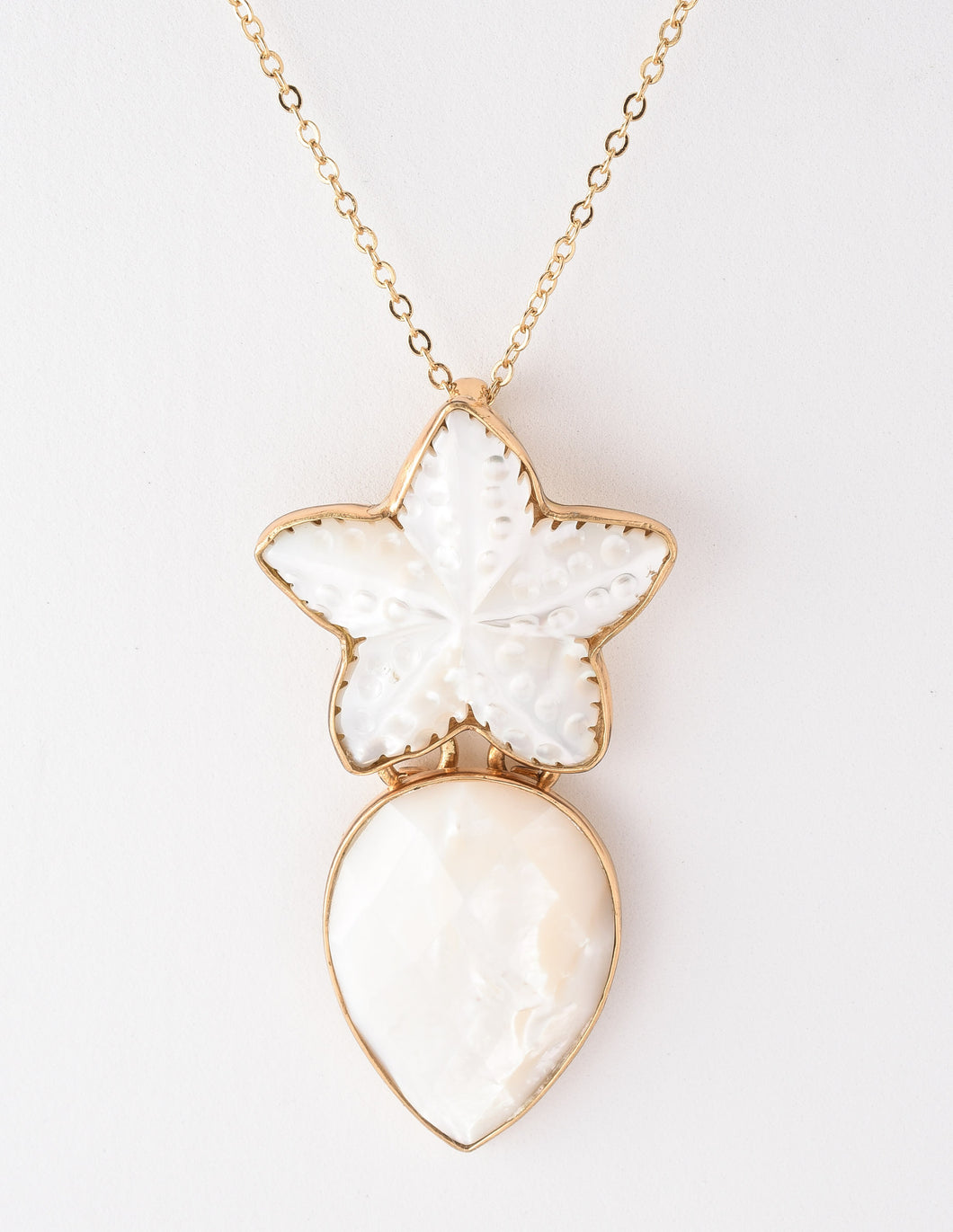 Alchemia Arctic Star Mother Of Pearl Pendant Necklace
