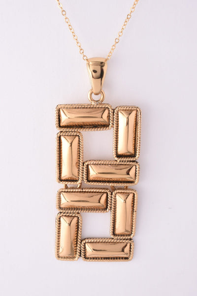 Alchemia Rectangle Motif Pendant Necklace