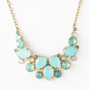 Nested Pear Statement Necklace - Pacific Opal