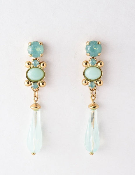 Novelty Empress Drop Earrings - Pacific Opal