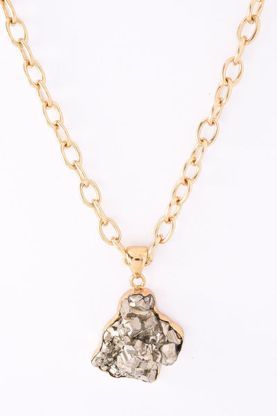 Alchemia Pyrite Pendant Necklace