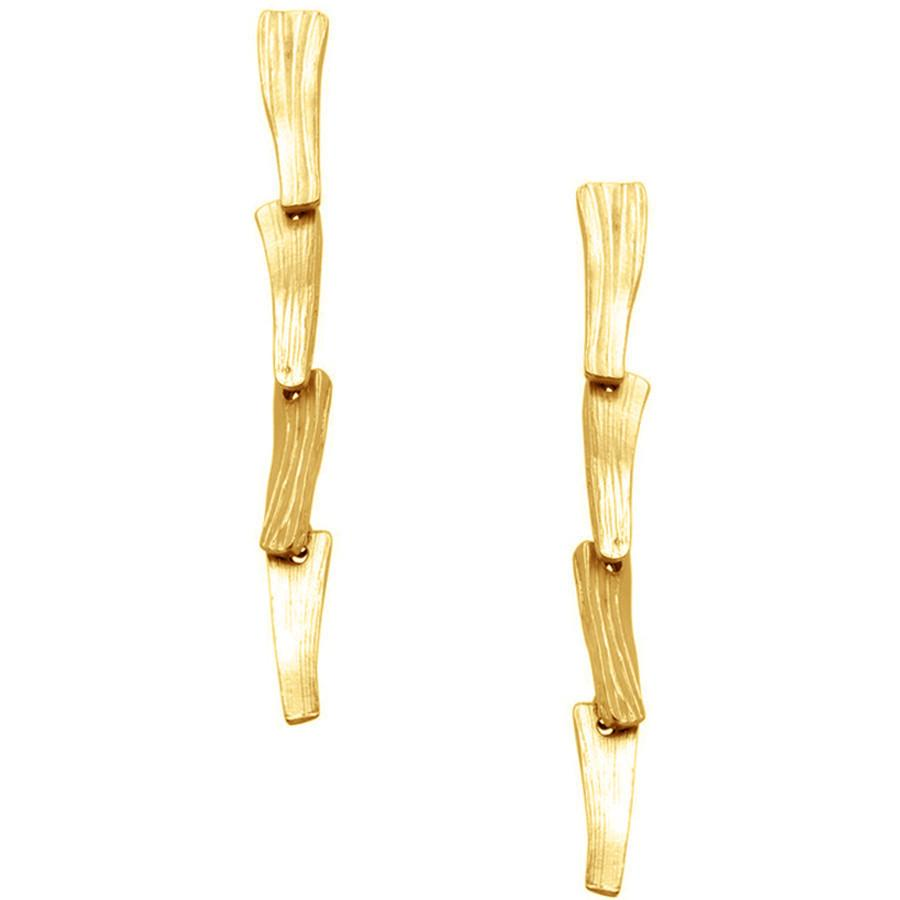 24 KT Gold Pendant Earrings