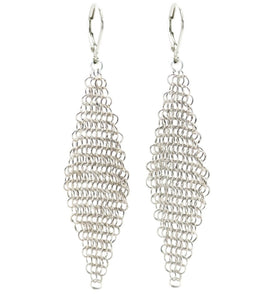 925 Sterling Silver Bali Chain Drop Earrings