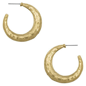 Antique Gold half hooped earrings