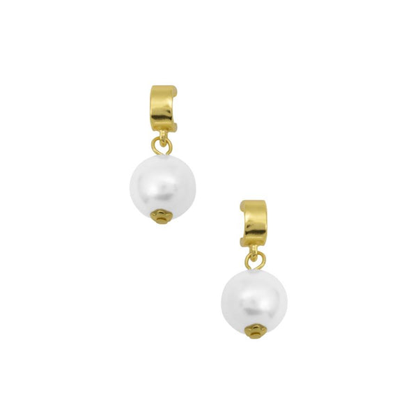 Rommy Petite Pearl Drop Earring In Gold