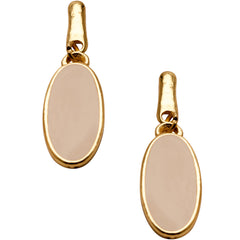 Chic Beige Earrings in Gold