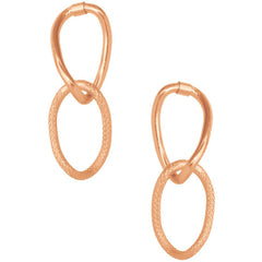 EMMA DOUBLE LINK DROP EARRING IN ROSE GOLD