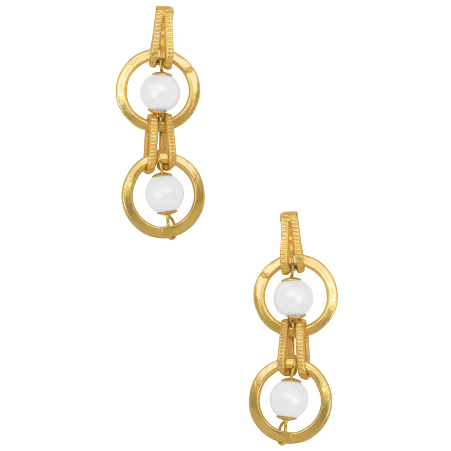 Serena Drop Earrings in Gold
