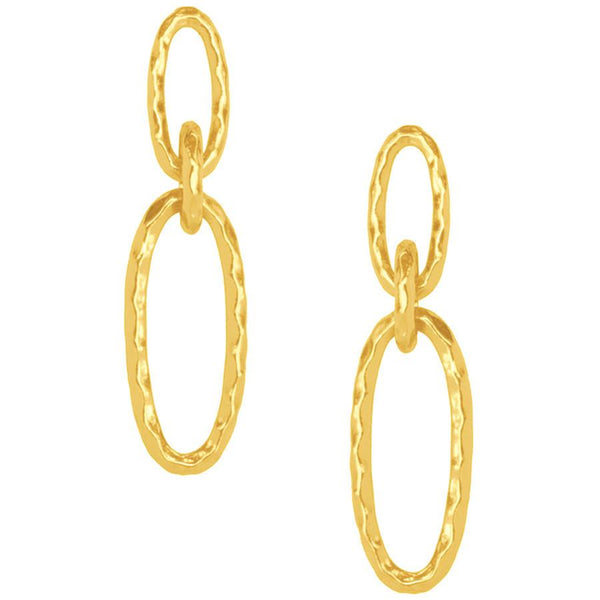 Lisa Double Oval Link Earring in Gold