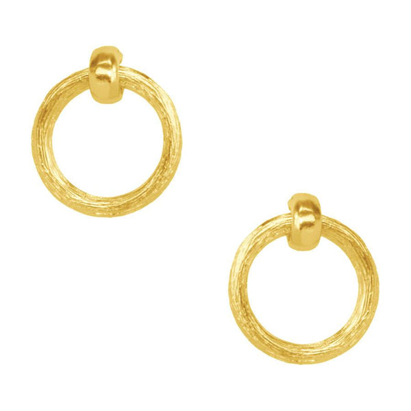 Mia Doorknocker Earring In Gold