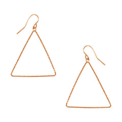 Leila Triangle Drop Earrings Rosegold