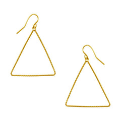 Triangle Drop Earrings in Gold