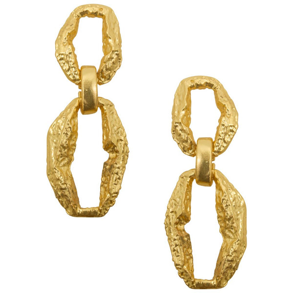 Milano Link Earring in Gold