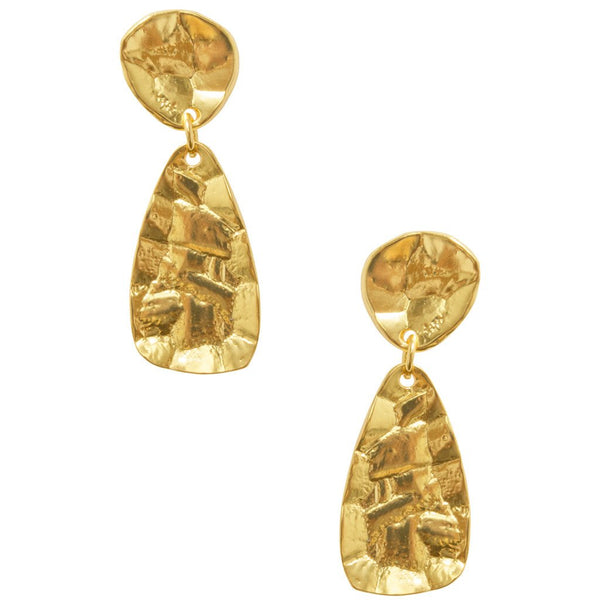 Gold Teardrop Athena Earrings
