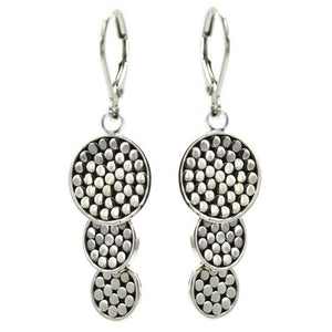 Sterling Silver Kala Dainty Triple Drop Earrings