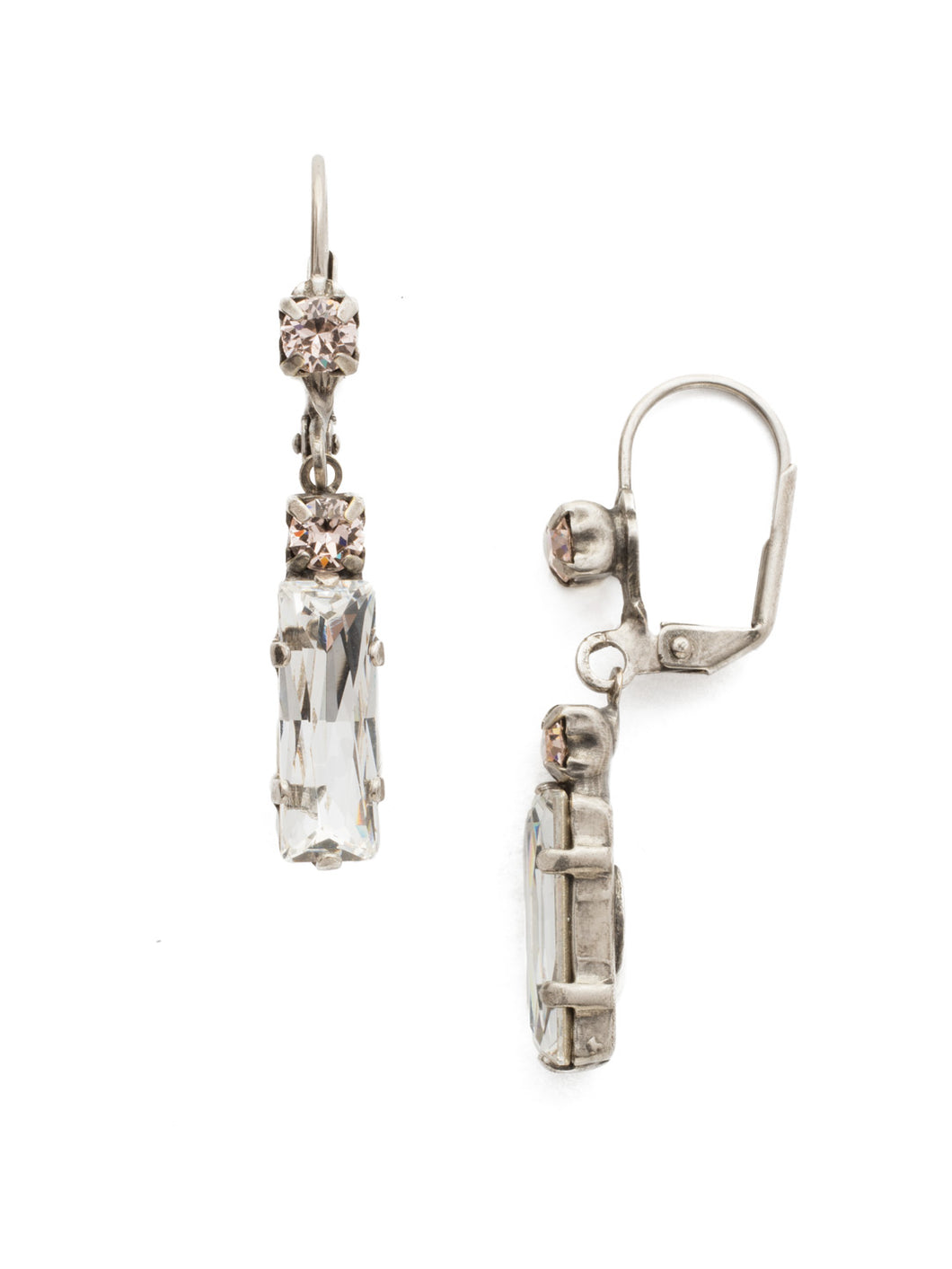 Modern Meets Vintage Baguette Drop Earrings