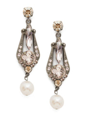 Jonquil Earrings - Crystal and Freshwater Pearl