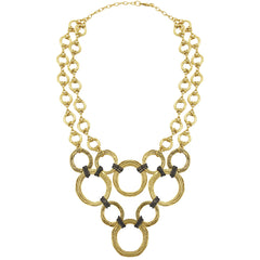 statement Necklace in Gold with multiple circles