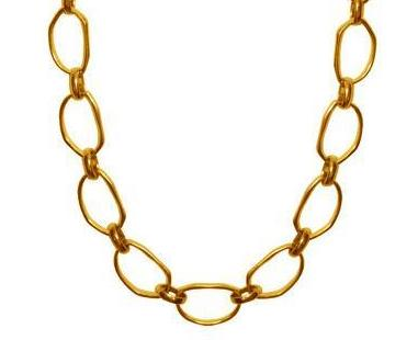 Leah Long Necklace In Gold