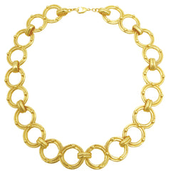Cut-Out Circle Links Gold Necklace