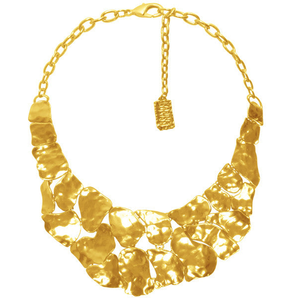Mosaic Statement Necklace In Gold