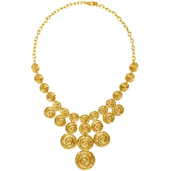 Cascade Waterfall Statement Necklace In Gold