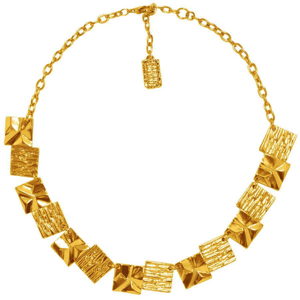 Diane Architectural Collar Necklace in Gold