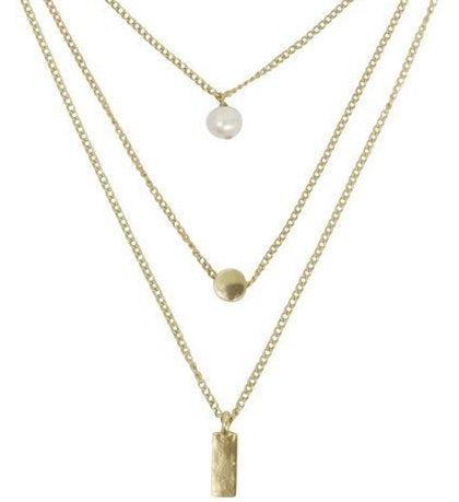 Melissa Layered Necklace In Gold