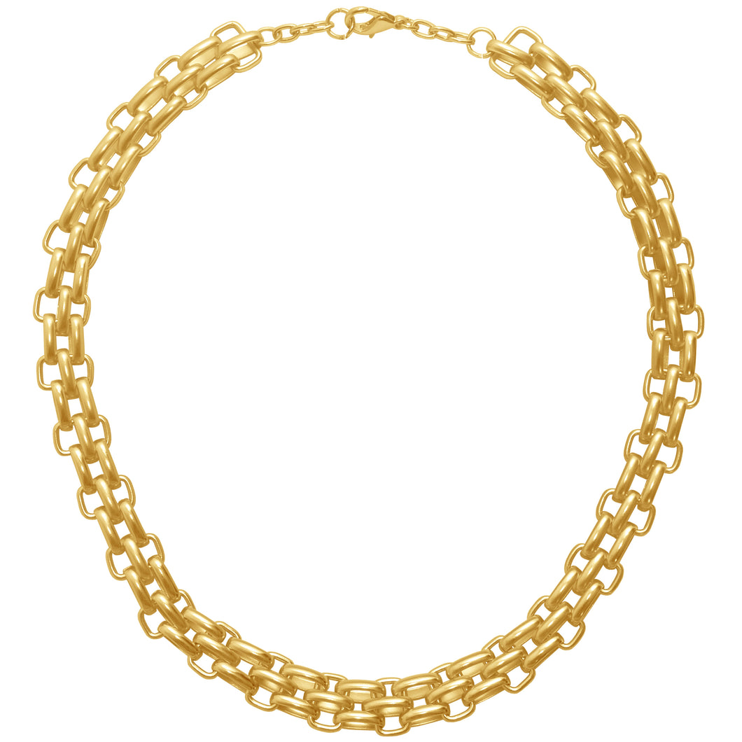 Triple Link Gold Necklace