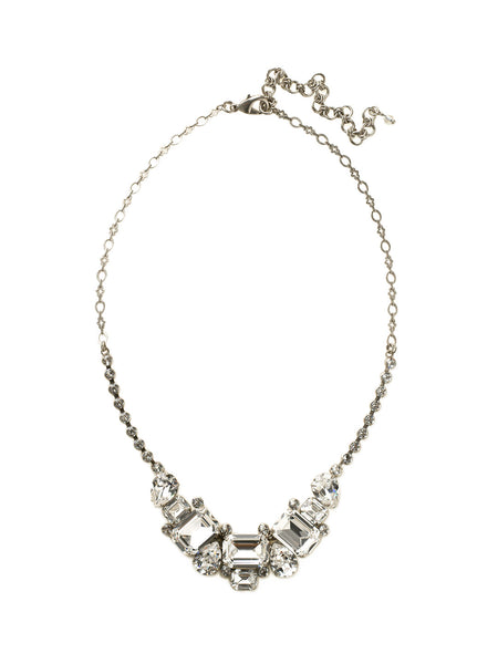 Emerald and Pear-Cut Crystal Collar Neck