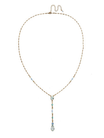 Regal Rhombus Y Necklace - Azure Allure